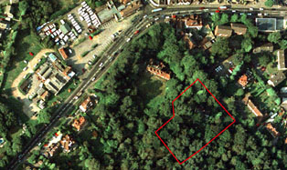 Arial photograph of Littlecroft, Hindhead Road, Hindhead, Surrey